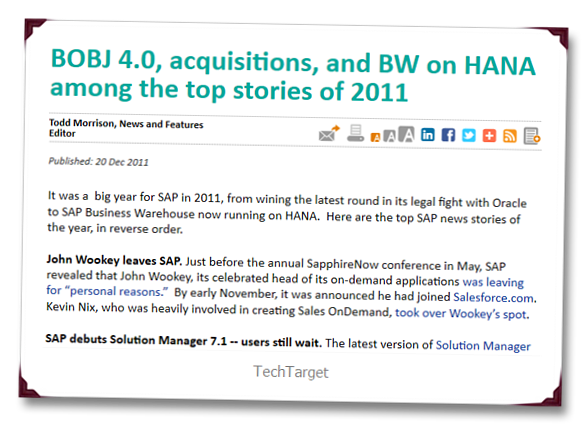 SAP 2011 Year in Review