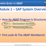 Beginners Guide To ABAP – Module 1 – Introduction To The ABAP Workbench