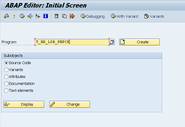 SAP SE38 Create a Program