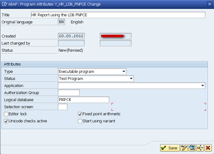 SAP LDB PNPCE Create A Program