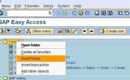How To Add Favorites To Your SAP Menu