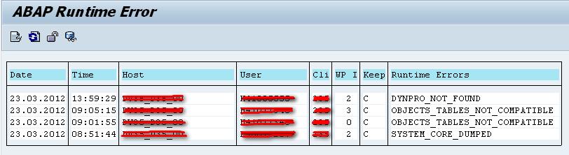 ABAP Runtime Errors