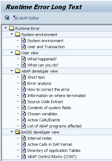 Runtime Error Long Text