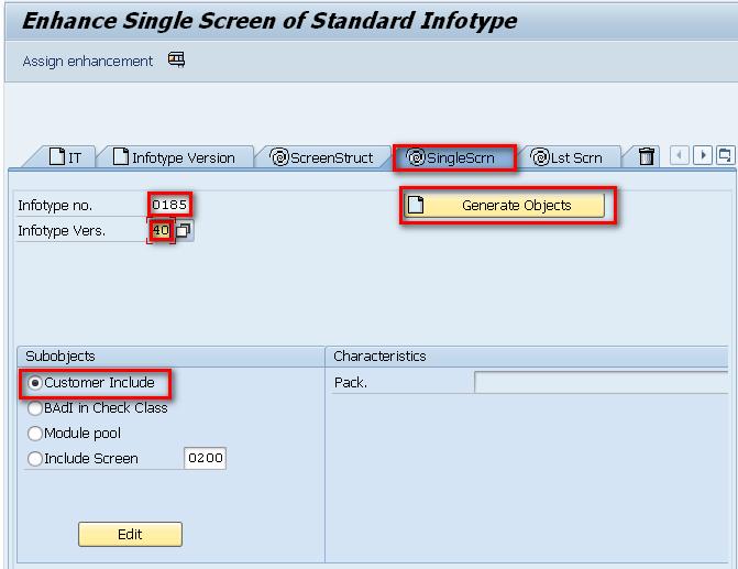 Enhance Single Screen Of Standard Infotype
