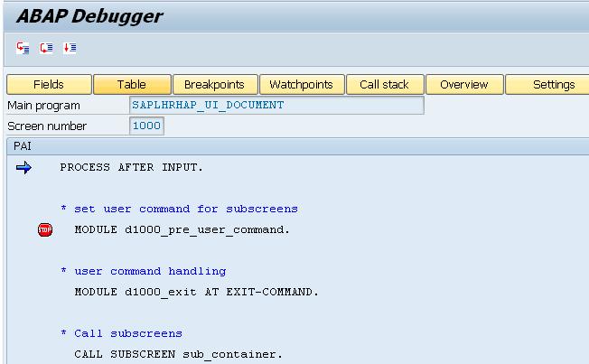 Switch To The Classical Debugger To Debug Screen/Dialog Programs
