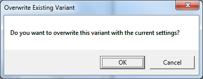 Overwrite Existing Variant Pop Up