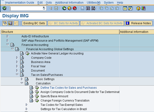 Tax Configuration For SAP Implementations