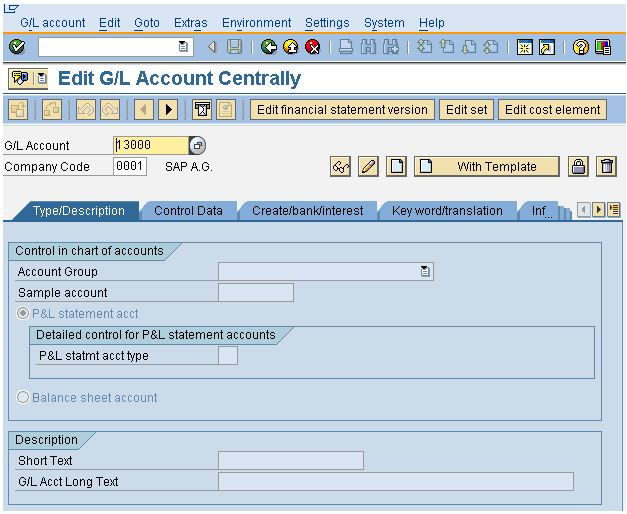 Learn How To Create An SAP General Ledger Account For COA