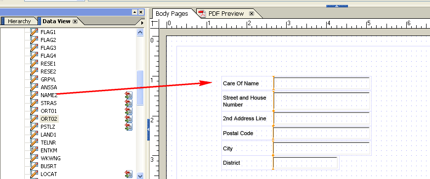 SAP Form Builder - Page Body