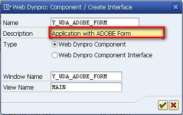 SAP Web Dynpro - Component