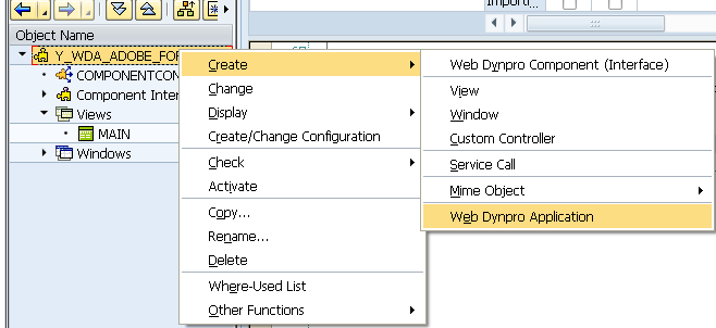 SAP - Create A Web Dynpro Application
