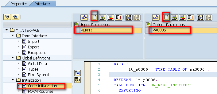 SAP Interface Form Builder - Code Initialization