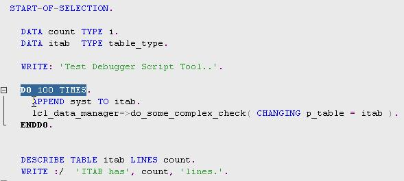 Fig 2 - Code for ITAB