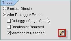 Fig 4 - Option for Triggering Script