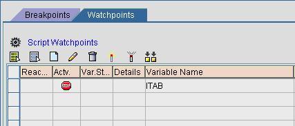 Fig 5 - Add Watch-Point in a Script