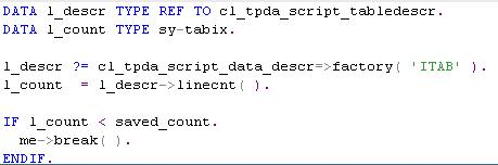 Fig 6 - Script Code for Customized Watch-Point