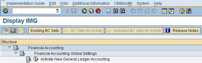 ACTIVATE NEW GENERAL LEDGER ACCOUNTING