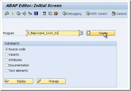 How To Create Your First SAP ABAP Program