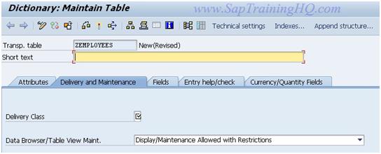 SAP Data Dictionary